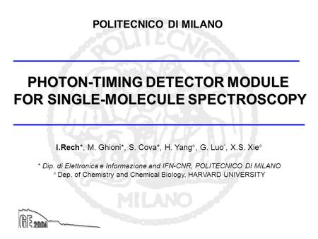 PHOTON-TIMING DETECTOR MODULE FOR SINGLE-MOLECULE SPECTROSCOPY