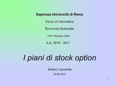 Stock options economia