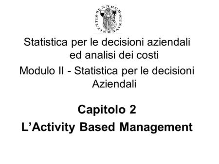 L'Activity Based Management