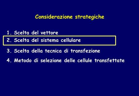 Considerazione strategiche