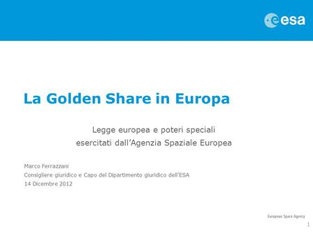 La Golden Share in Europa