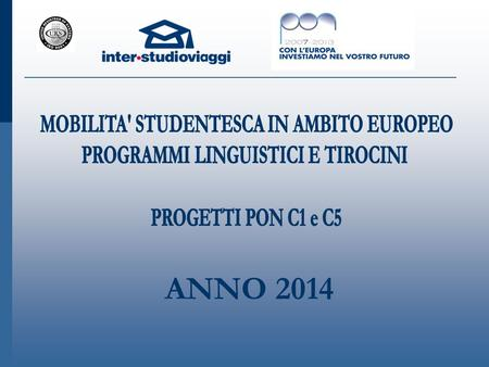 ANNO 2014. Sommario Chi siamo – presentazione inter ● studioviaggi I NOSTRI CENTRI RESIDENZIALI  London Hatfield – University of Hertfordshire  London.