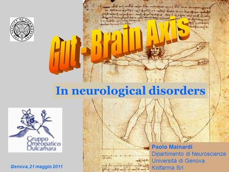 In neurological disorders Paolo Mainardi Dipartimento di Neuroscienze Università di Genova Kolfarma Srl Genova, 21 maggio 2011.