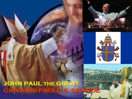 The journey initiated by Jesus in Galilee, then picked up by St Paul till Rome, was carried on by John Paul II who traveled through the globe. In the.