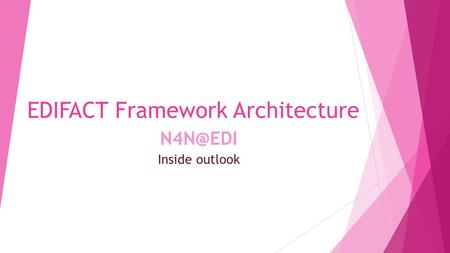Inside outlook EDIFACT Framework Architecture