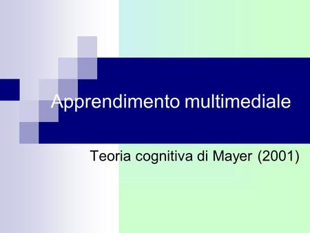 Apprendimento multimediale