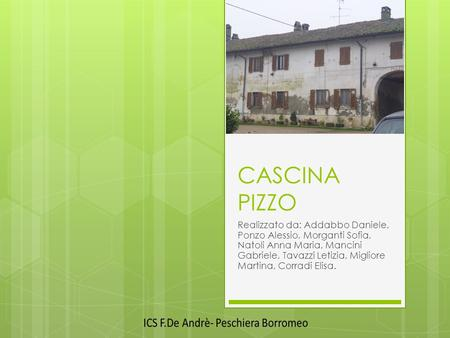 CASCINA  PIZZO ----- Meeting Notes (15/01/15 15:47) -----