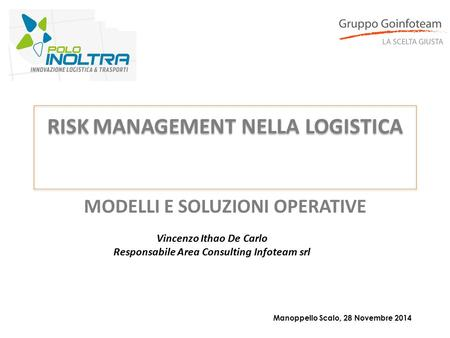 RISK MANAGEMENT NELLA LOGISTICA