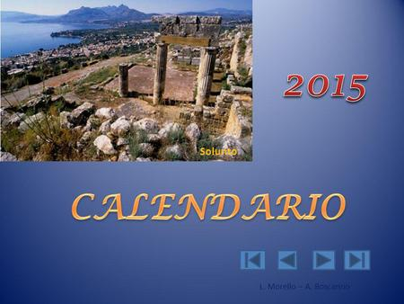 2015 Solunto CALENDARIO L. Morello – A. Boscarino.