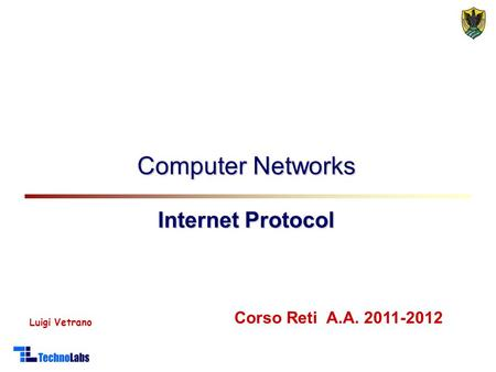 Computer Networks Internet Protocol