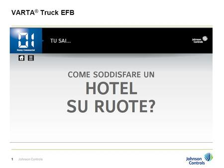 VARTA® Truck EFB Johnson Controls.