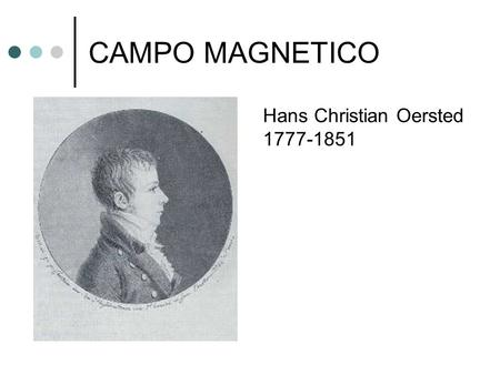 CAMPO MAGNETICO Hans Christian Oersted 1777-1851.