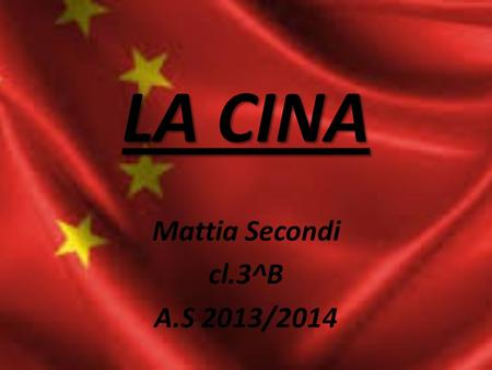 Mattia Secondi cl.3^B A.S 2013/2014