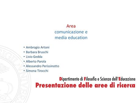 Area comunicazione e media education