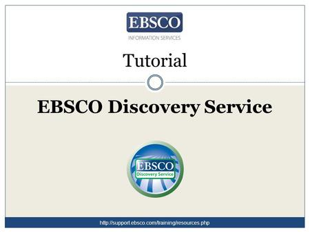 Tutorial EBSCO Discovery Service