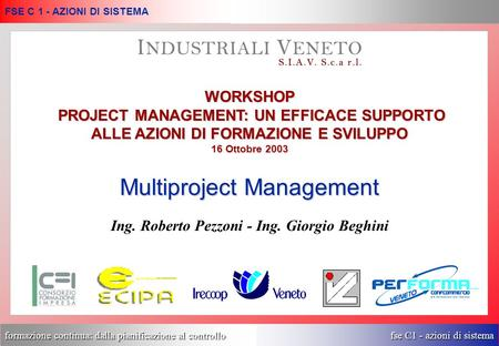 Multiproject Management