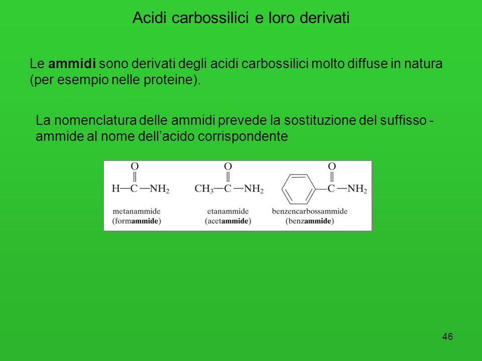 47 Le ammine derivano dallammoniaca (NH 3 ) per sostituzione di uno, due o tutti gli atomi di idrogeno con altrettanti gruppi alchilici.