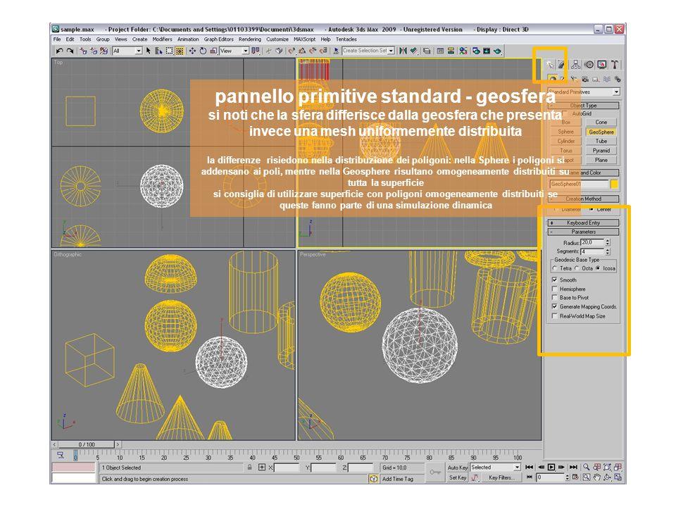 pannello primitive standard - tubo si possono creare anche forme già composte come ad esempio il tubo