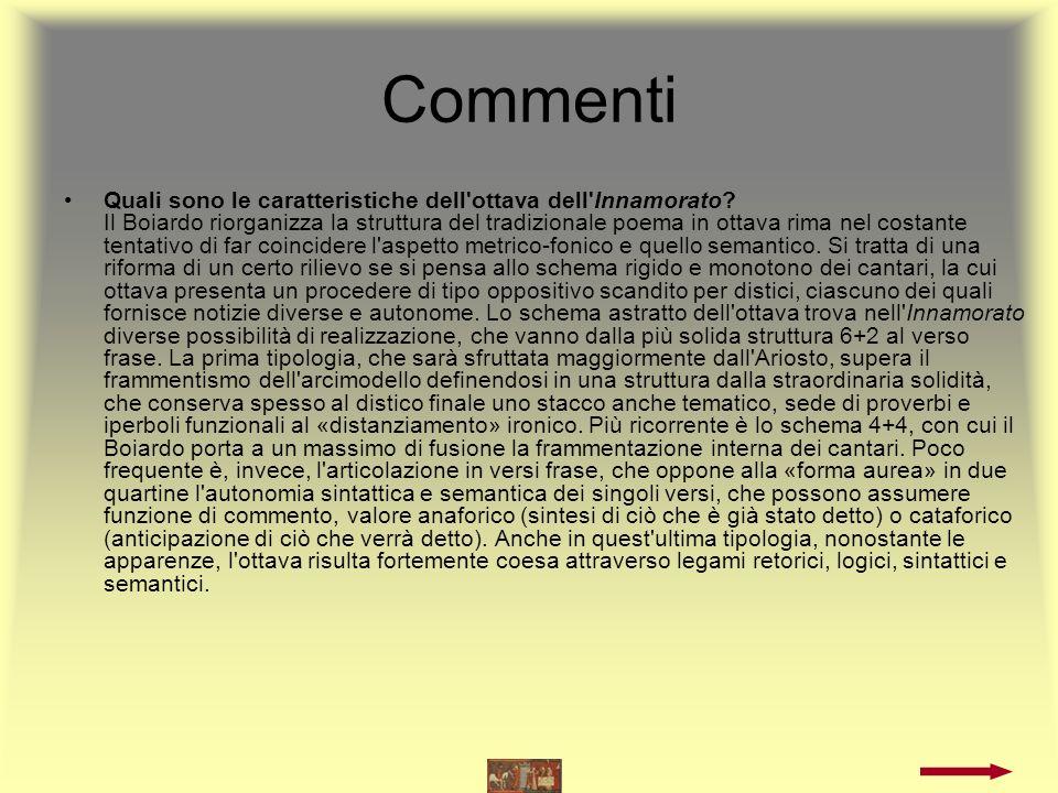 Commenti Che rapporto lega l Orlando Furioso di Ariosto all Innamorato di Matteo Maria Boiardo.