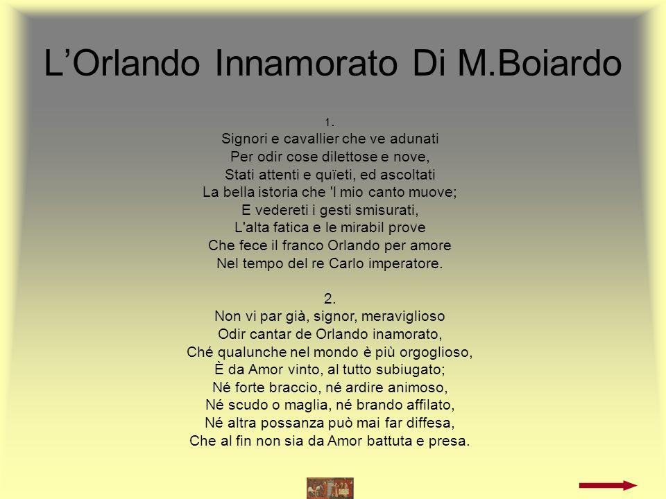 LOrlando Innamorato Di M.Boiardo 3.