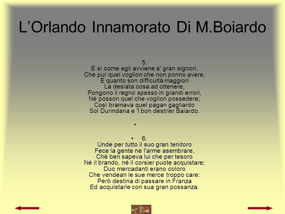 LOrlando Innamorato Di M.Boiardo 7.