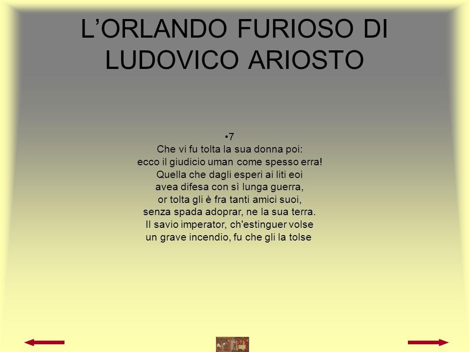 Autori Ludovico Ariosto Torquato Tasso Matteo Boiardo