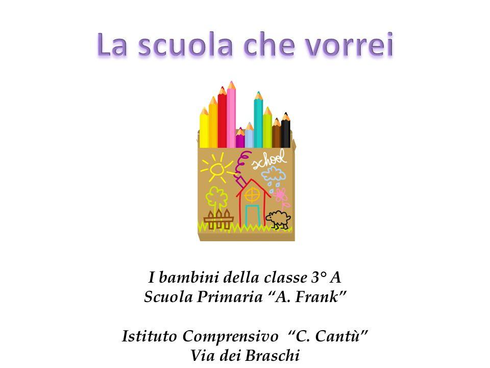 I bambini della classe 3° A Scuola Primaria A. Frank Istituto Comprensivo C. Cantù Via dei Braschi