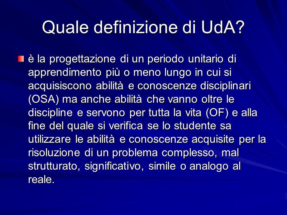 Quali criteri per buona progettazione di UdA.