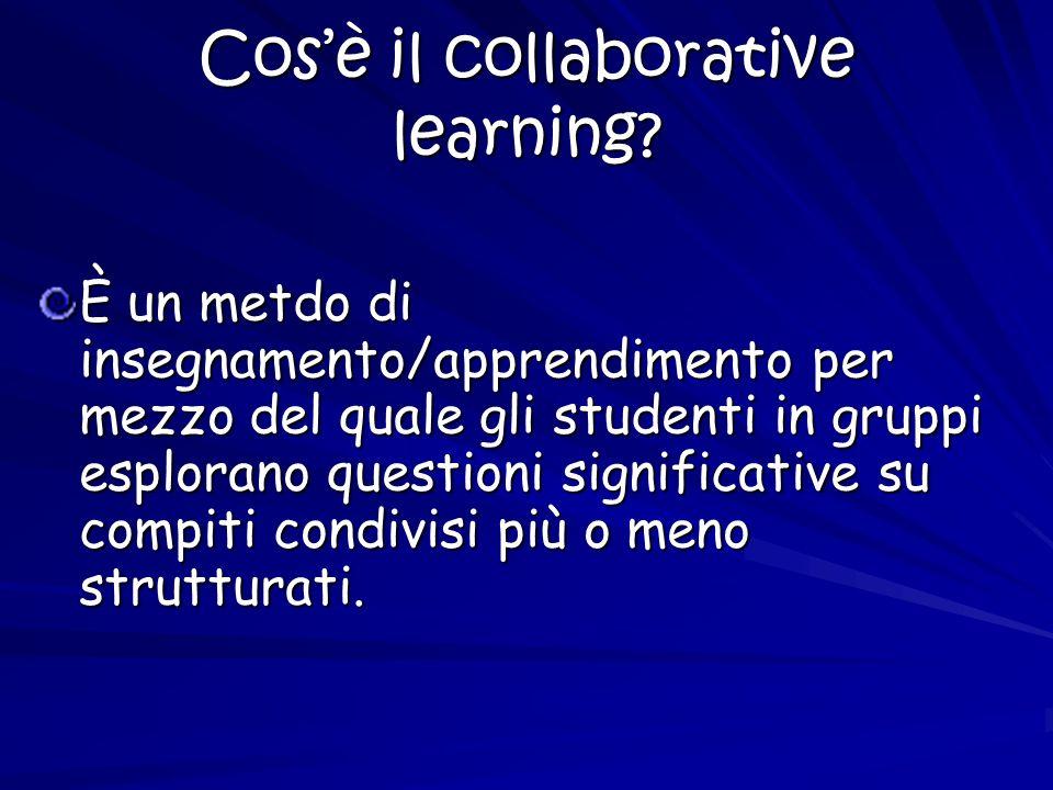 Cosè il cooperative learning.
