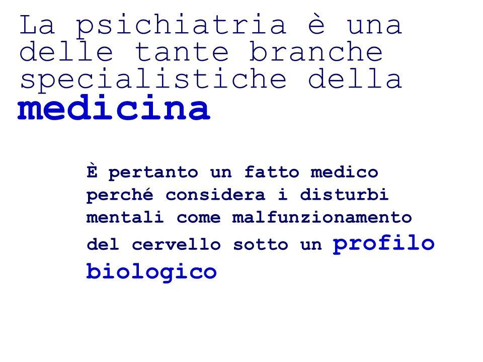 …la psichiatria è anche un fatto psicologico … Si ritiene che molti disturbi mentali sono psicologicamente determinati che necessitano di comprensione in chiave psicologica di sintomi e comportamenti