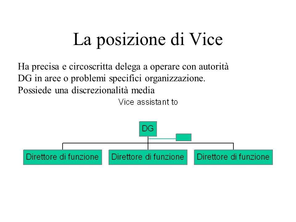 Il Vice Operativo: ha autorità sulla struttura.