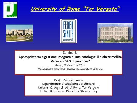 "University of Rome ""Tor Vergata"""
