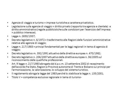 Le fonti della legislazione turistica ppt scaricare - Permuta immobiliare tra privato e impresa ...