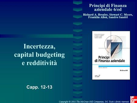 Incertezza, capital budgeting e redditività