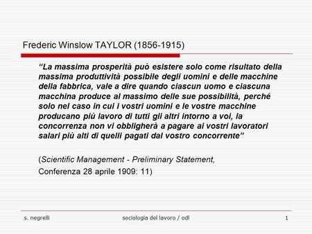 Frederic Winslow TAYLOR ( )
