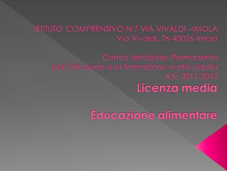 ISTITUTO COMPRENSIVO N