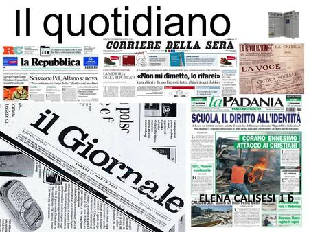 Il quotidiano ELENA CALISESI 1 b.