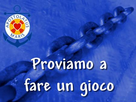 © 2002 By Default! A Free sample background from www.powerpointbackgrounds.com Slide 1 Proviamo a fare un gioco Proviamo a fare un gioco.