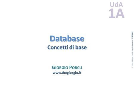 Database Concetti di base
