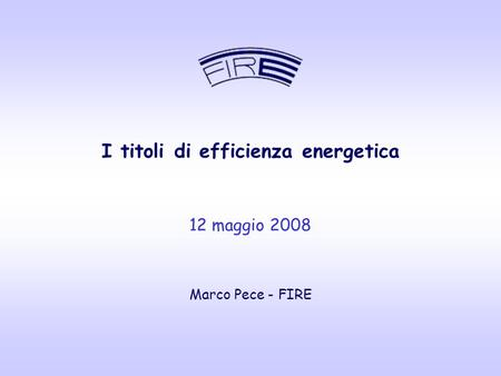 I titoli di efficienza energetica