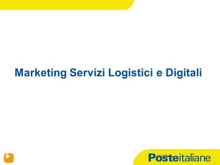 15/04/2015 Marketing Servizi Logistici e Digitali.