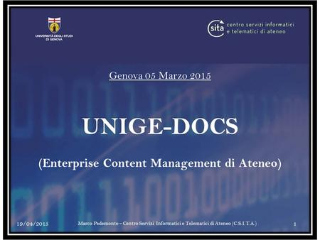 (Enterprise Content Management di Ateneo)