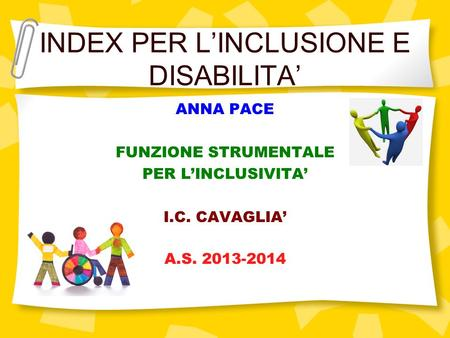 INDEX PER L'INCLUSIONE E DISABILITA'