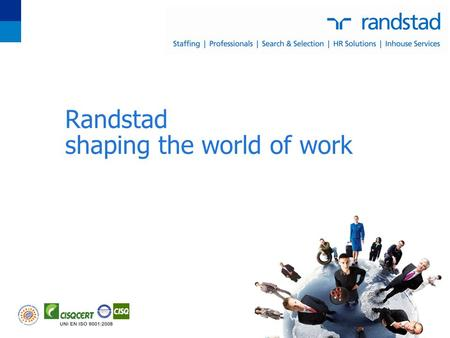 Randstad shaping the world of work