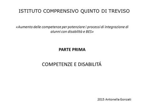 COMPETENZE E DISABILITÁ