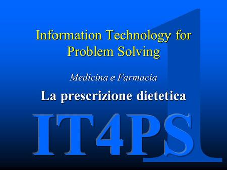 Information Technology for Problem Solving