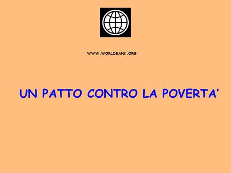 UN PATTO CONTRO LA POVERTA'