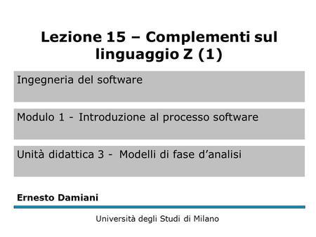 Ingegneria del software modulo 1 introduzione al processo for Software di progettazione del modello di casa