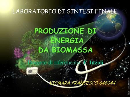 LABORATORIO DI SINTESI FINALE