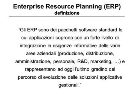 Enterprise Resource Planning (ERP) definizione